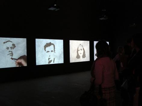 OscarMuñoz, Proyecto para un memorial [Ed. of 5 + 2 AP], 2004-2005. 5 videos, nosound,7:30 min. 52nd InternationalVenice Biennale, 2007.