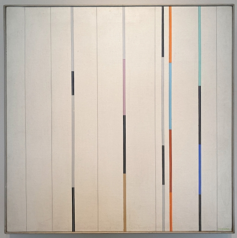 Gregorio Vardanega, Chromographie Paris, 1986. Acrylic on canvas, 22 7/8 x 22 7/8 in. (58.1 x 58 cm.)