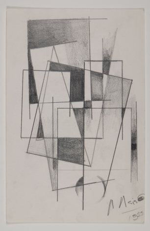 Antonio Asis, Untitled, 1955, Graphite on paper, 8 1/4 x 5 5/16 in. (21 x 13.5 cm.)