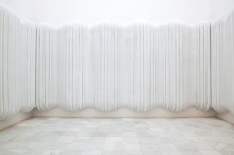 Pablo Siquier,Untitled, 2005,Expanded polystyrene on wall.Museo Nacional Centro de Arte Reina Sofía, Madrid, Spain
