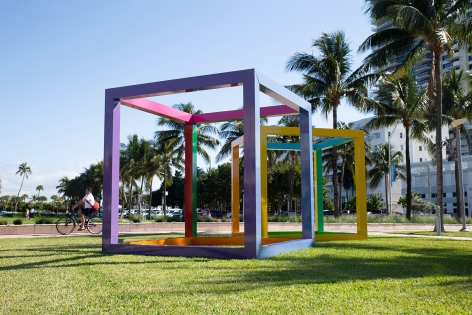 , Graciela Hasper, Intemperie, 2019. Installation view in Collins Park, The Bass Museum, City of Miami Beach.