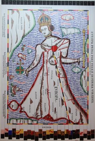 Miguel ÁngelRíos,Eminencia. Cibachromemounted on canvas and push pins, 122 7/16 x 85 in.