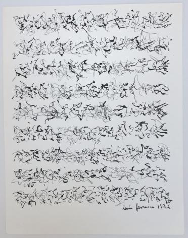 León Ferrari,Sin Título, 1976, Ink on paper,8 1/2 x 6 19/32 in. (21.6 x 16.8 cm.)