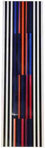 Alejandro Otero, Coloritmo 74a bis [Colorhythm 74a bis], 1991. Industrial enamel on wood, 59 1/16 x 16 11/16 in.