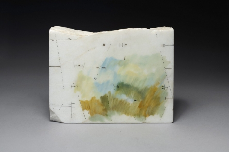 Untitled, 1988,Drawing and paint on marble,7 7/16 x 9 7/16 x 1 9/16 in. (19 x 24 x 4 cm.)