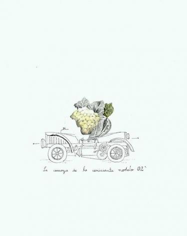 Teresa Currea, La Carroza, 2009, Pencil and ink on paper, 17.5 x 12.5 cm
