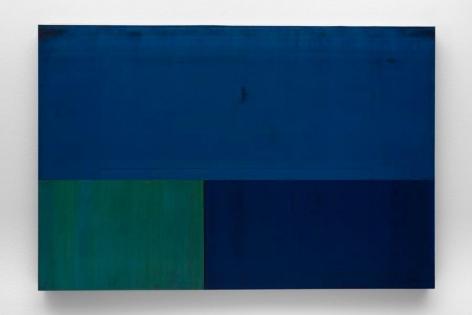 Gabriel de la Mora, MCI / 3 - III f, 2013. Discarded offset printing rubber blankets, wood mounting, 35 7/16 x 23 5/8 x 1 9/16 in. / 90 x 60 x 4 cm.