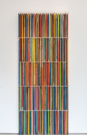 Thomas Glassford, Stela: A teardrop on the cheek of time, 2010. Lucite and Broomsticks, 118 7/8 x 49 19/32 x 4 23/32 in. (302 x 126 x 12 cm.)