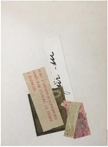 Alejandro Otero, L'Usure, Le Temps, Les Elements [Wear, Time, Elements], 1962. Collage, 14 1/4 x 10 1/2 in.