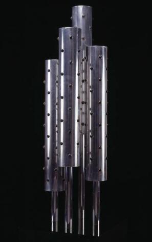 Gregorio Vardanega, Sans Titre, 1969. Aluminum, metal, and motor, 54.75 in. x 15 in. x 39.3 in.