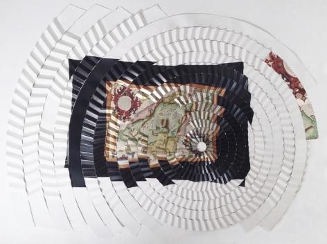 Miguel AngelRíos,Las estrellas nos guian,1992-1993.Cibachrome mounted on pleated canvas and push pins,112 9/16 x 91 5/16 in. (286 x 232 cm.)
