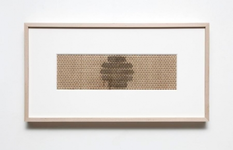 Gabriel de la Mora, B-118, 2015. Fabric removed from radio speakers,11 1/2 x 21 7/8 x 1 13/16 in. / 29.2 x 54.8 x 4.5 cm.