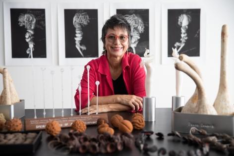 Maria Fernanda Cardoso in her Sydney, Australia studio, 2020. Photograph: Daniel Boud.