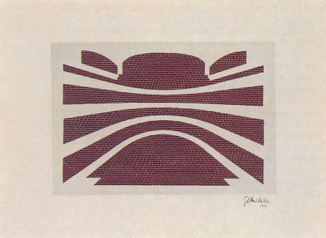 Guillermo Kuitca, Cuarta pared, 1997. LIthograph, etching, 22 1/16 in. x 29 7/8 in.