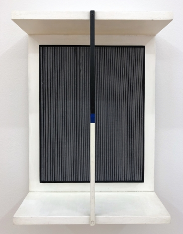 Jesús Rafael Soto, Mouvement Tricolore, 1965, Wood, metal and paint, 19 5/32 x 14 5/16 x 5 29/32 in. (48.7 x 36.4 x 15 cm.)
