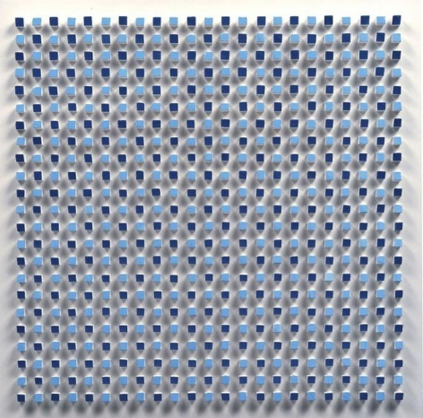 Luis Tomasello, Objet Plastique No. 848, 2006. Acrylic on wood, 20 1/2 x 20 1/2 x 2 in.  / 52 x 52 x 5 cm.