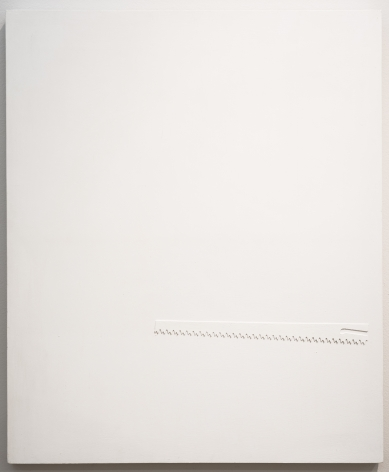 Alejandro Otero, Sierra blanca sin mango [White Saw Without Handle], 1966. Mixed media on wood, 25 9/16 x 21 1/4 in.