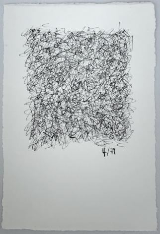 León Ferrari, Sin Título, 1979. Ink on paper, 6 3/8 x 4 1/4 in. (16.2 x 10.8 cm.)