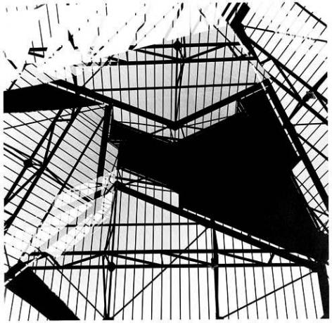 """Geraldo de Barros, 1949/2008. De la série """"Fotoforma"""" - Gare de São Paulo, ed. 15/15, Silver Gelatin Print,11 x 11 1/4 in."""