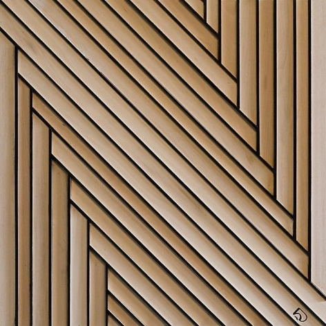 Harvey J. Bott, Footnote Retrospective, India ink and synthetic co-polymer acrylic on basswood on pressed wood panel, 2005