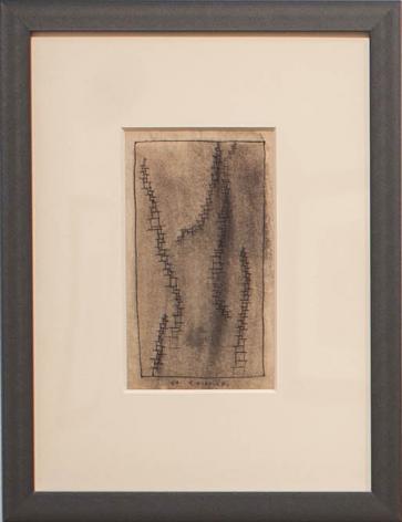 José Gurvich, Untitled, 1961. Ink on paper, 8 x 4 3/4 in. / 20.3 x 12 cm.