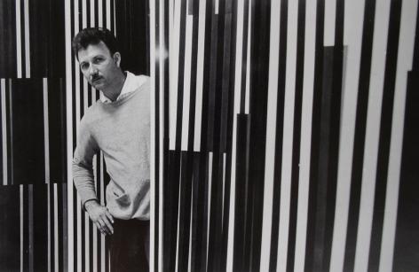 Alejandro Otero amongst his Coloritmos, 1960. Photo courtesy of the Otero Pardo Foundation Archives