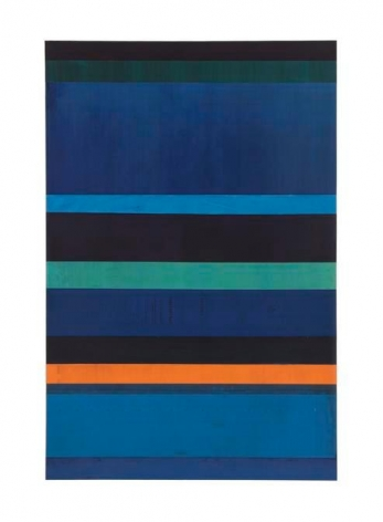Gabriel de la Mora, MCI / 12 - I f, 2015. Discarded offset printing rubber blankets, wood mounting, 35 7/16 x 23 5/8 x 1 9/16 in. / 90 x 60 x 4 cm.