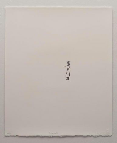 Liliana Porter, To See Gold, 2013. Lithograph on white Arches paper, 22 1/2 in. x 18 1/2 in.
