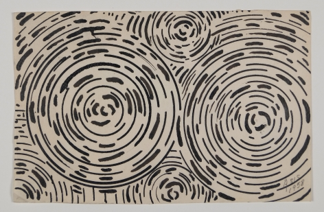 Antonio Asis, Untitled, 1958, Ink on paper, 3 1/2 x 5 1/2 in. (8.9 x 14 cm.)