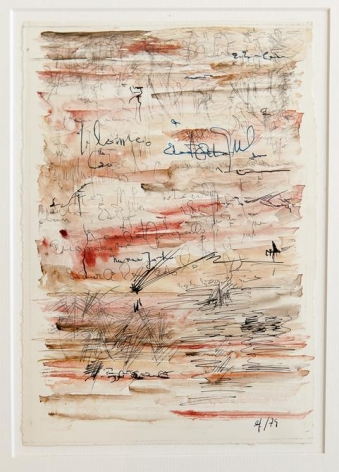 León Ferrari, Untitled, 1979. Watercolor and ink on paper, 8 11/16 x 5 15/16 in. / 22 x 15 cm.