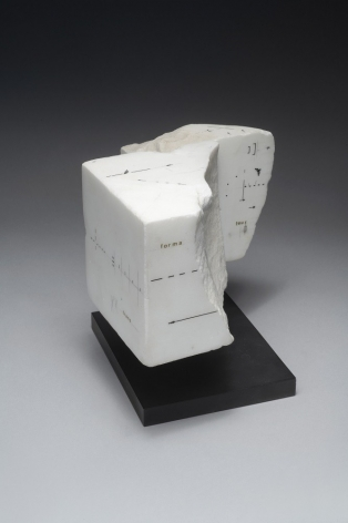 Untitled, 1984,Drawing on marble,4 1/8 x 6 7/8 x 6 1/16 in. (10.5 x 17.5 x 15.5 cm.)