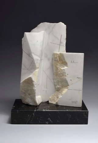 Marie Orensanz, dirigir, 1985. Drawing and mixed media on marble, 13 3/4 in. x 10 5/8 in. x 5 1/4 in.