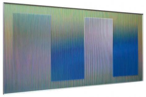 "Physichromie 1696, 2011, Chromography on aluminum, Plexiglas, 78"" x 39""/ 200 x 100 cm"
