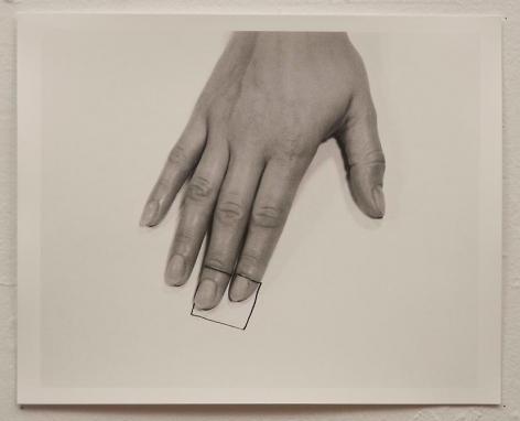 Liliana Porter, The Square III, 1973. Gelatin silver photograph, 8 1/2 in. x 11 in.