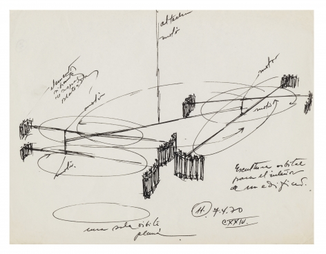Alejandro Otero, Untitled, 1970. Ink on paper, 8 1/2 x 11 1/16 in.