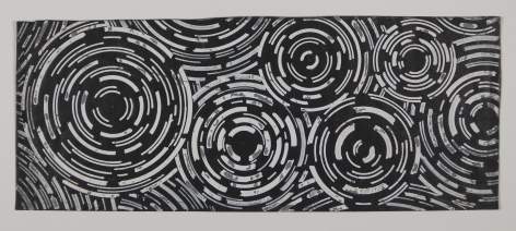 Antonio Asis, Esquisse noire, 1958, Gouache and ink on paper, 3 9/16 x 8 7/8 in. (9.2 x 22.6 cm.)
