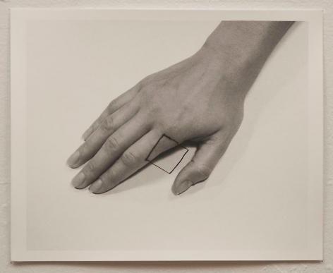 Liliana Porter, The Square II, 1973. Gelatin silver photograph, 8 1/2 in. x 11 in.