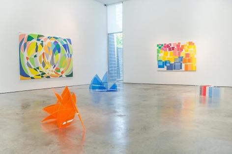 Marta Chilindron & Graciela Hasper, Dialogues, 2014. Sicardi Gallery installation view.