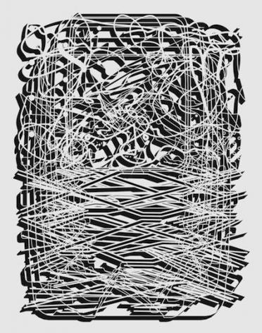 Pablo Siquier, 1018, 2010. Acrylic on canvas, 79 x 59 in.