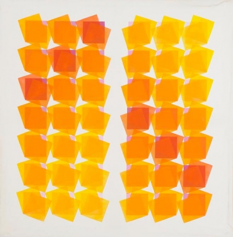Manuel Espinosa, Gnossionnes III, 1973, Acrylic on canvas, 39 3/8 in. x 39 3/8 in.