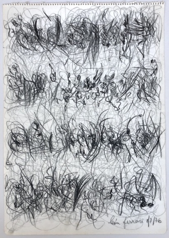León Ferrari, Sin Título, 1976. Graphite on paper, 19 5/8 x 13 5/8 in. (49.8 x 34.7 cm.)