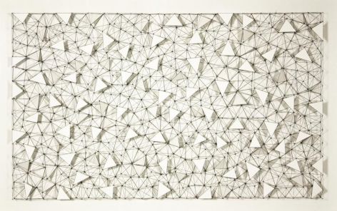 Mariano Dal Verme, Untitled, 2014. Graphite, paper, 32 in. x 48 in. x 4 in.