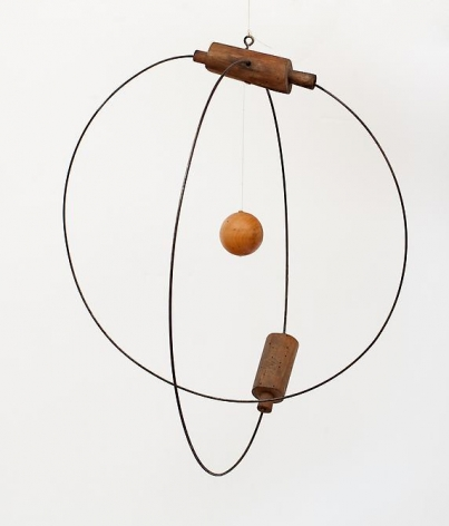 Carmelo Arden Quin, Movile, 1950, Wood, metal, and monofilament, 9 7/8 in.