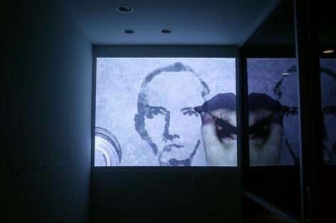 Oscar Muñoz, Re/trato, Exhibition at Sicardi | Ayers | Bacino, 2002.
