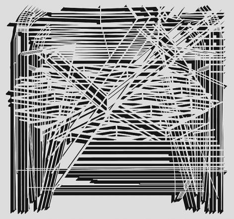 Pablo Siquier, 0804, 2008. Adhesive vinyl wall installation, 110 1/4 in. x 126 in.