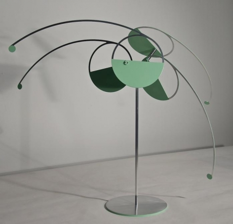 Pedro S. de Movellán, Pistil, 2015, Powder coated and brushed aluminum, stainless steel
