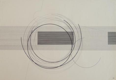 Antonio Lizárraga, Escadas e degraus, 1989. India Ink and pigments on Schoellershammer paper, 20 1/16 x 28 3/4 in.