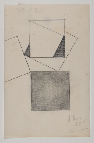 Antonio Asis, Esquisse, 1955, Graphite on paper, 5 3/8 x 8 1/4 in. (13.7 x 20.9 cm.)