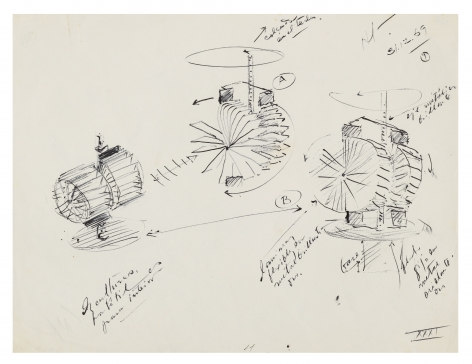 Alejandro Otero, Untitled, 1969. Ink on paper, 8 1/2 x 11 1/16 in.