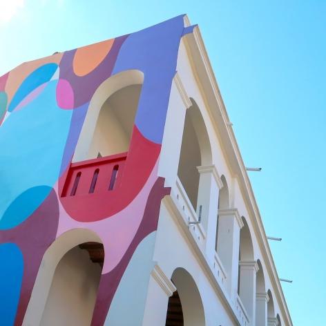 , Graciela Hasper,Untitled, 2020. Paint on wall.30 x37 ft.XXI Bienal Internacional De Arte De Santa Cruz De La Sierra, Santa Cruz, Bolivia.